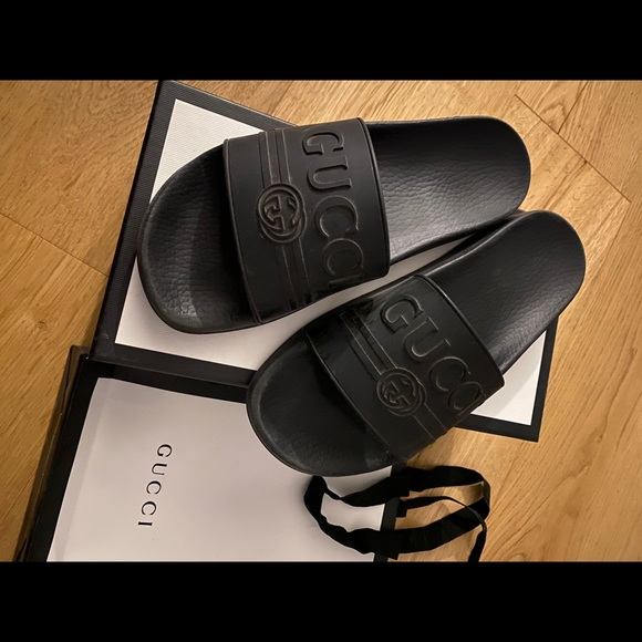 Black Gucci Slides
